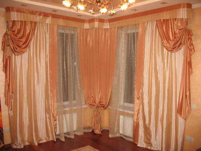 Красивые шторы на окнах фото